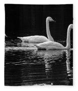Whooper Swan Family Fleece Blanket