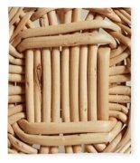 Wicker Basket Fleece Blanket