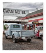 Wigwam Motel Fleece Blanket