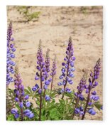 Wild Lupine Flowers Fleece Blanket