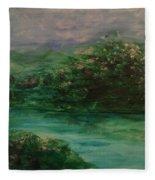 Wild Rose Bushes Fleece Blanket