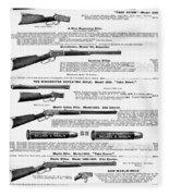 Winchester Rifles Fleece Blanket