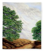 Windblown Clouds Fleece Blanket