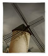 Windmills At Campo De Criptana Fleece Blanket