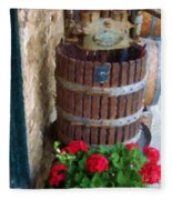 Wine And Geraniums Fleece Blanket