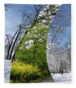 Winter And Summer Fleece Blanket