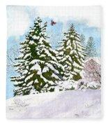 Winter Delight Fleece Blanket