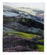 Winter In North Wales Fleece Blanket
