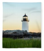 Winter Island Lighthouse, Salem Ma Fleece Blanket