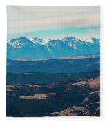 Winter Sangre De Cristo Mountains Fleece Blanket