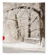 Winter Walk Fleece Blanket