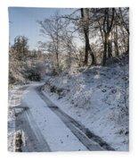 Winter Wonderland In Central Scotland Fleece Blanket