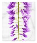 Wisteria Flowers, X-ray Fleece Blanket
