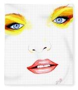 Woman Scent Watercolor Painting Fleece Blanket