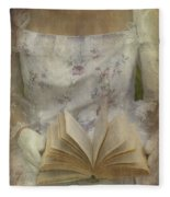 Woman With A Book Fleece Blanket