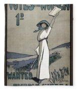 Womens Rights Fleece Blanket