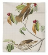 Wood Thrush Fleece Blanket