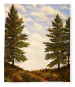 Wooded Path Fleece Blanket
