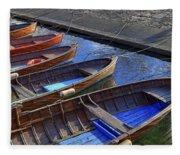 Wooden Boats Fleece Blanket
