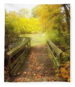 Wooden Bridge Fleece Blanket