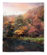 Woodland River Fleece Blanket