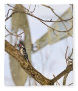 Woodpecker And Windmill Fleece Blanket
