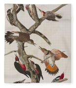 Woodpeckers Fleece Blanket