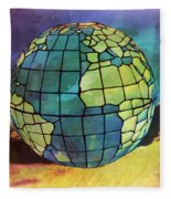 World Displayed Fleece Blanket