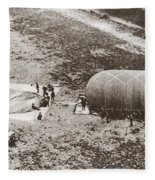 World War I: Balloon Fleece Blanket