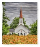 Worshiping Lilies 1 Fleece Blanket