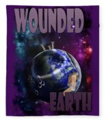 Wounded Earth Fleece Blanket