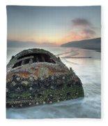 Wreck Of Laura - Filey Bay - North Yorkshire Fleece Blanket