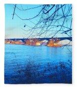 Wrightsville Bridge Fleece Blanket