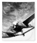 Wwii, Lockheed P-38 Lightning, 1940s Fleece Blanket