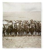Wyoming: Cowboys, C1883 Fleece Blanket