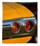 Yellow Chevy Fleece Blanket