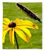 1 Yellow Daisy 2 Yellow Bugs Fleece Blanket