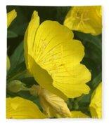Yellow Evening Primrose Fleece Blanket