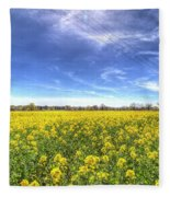 Yellow Fields Of Summer Fleece Blanket