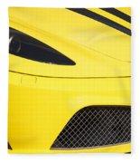 Yellow Stradale Fleece Blanket