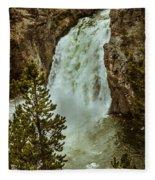 Yellowstone Upper Falls Fleece Blanket