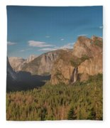 Yosemite Valley View Fleece Blanket