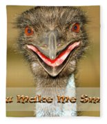 You Make Me Smile Fleece Blanket
