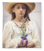 Young Girl With Lavender Fleece Blanket