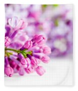 Young Spring Lilac Flowers Blooming Fleece Blanket