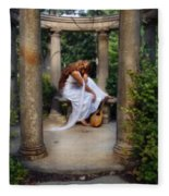 Young Woman As A Classical Woman Of Ancient Egypt Rome Or Greece Fleece Blanket
