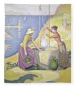 Young Women Of Provence At The Well, 1892 Fleece Blanket