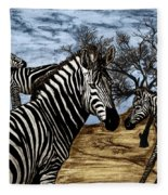 Zebra Outback  Fleece Blanket