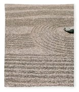 Zen Garden Fleece Blanket