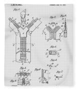 Zipper Patent Art  Fleece Blanket